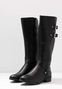Dorothy Perkins Wide Fit - WIDE FIT KIKI BUCKLE RIDER BOOT - Boots - black - 4