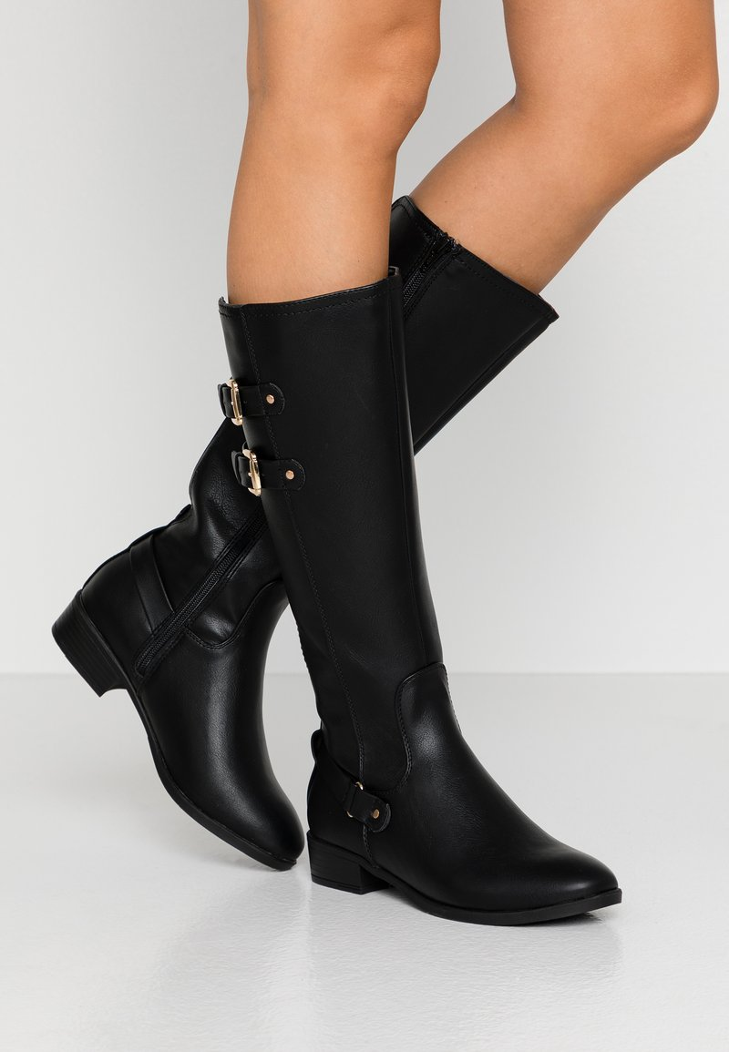 Dorothy Perkins Wide Fit - WIDE FIT KIKI BUCKLE RIDER BOOT - Boots - black