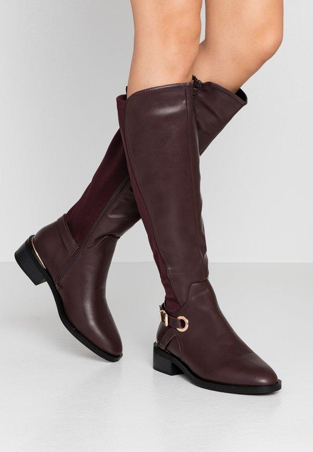 WIDE FIT KIKKA FORMAL RIDING BOOT - Vysoká obuv - oxblood