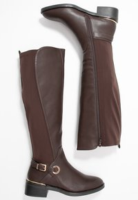 Dorothy Perkins Wide Fit - WIDE FIT KIKKA FORMAL RIDING BOOT - Boots - choc - 3