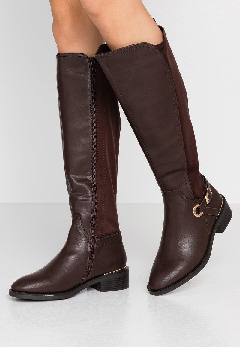 Dorothy Perkins Wide Fit - WIDE FIT KIKKA FORMAL RIDING BOOT - Høje støvler/ Støvler - choc