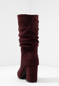 Dorothy Perkins Wide Fit - WIDE FIT KIND RUCHED BOOT - Boots - oxblood - 4