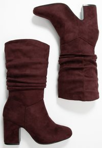 Dorothy Perkins Wide Fit - WIDE FIT KIND RUCHED BOOT - Boots - oxblood - 2