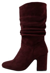 Dorothy Perkins Wide Fit - WIDE FIT KIND RUCHED BOOT - Boots - oxblood - 1
