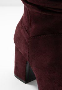 Dorothy Perkins Wide Fit - WIDE FIT KIND RUCHED BOOT - Boots - oxblood - 6