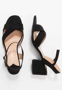 Dorothy Perkins Wide Fit - WIDE FIT BOOM CROSS OVER BLOCK HEEL - Sandály - black - 3
