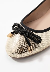 Dorothy Perkins Wide Fit - WIDE FIT PRISCILLA PUMP - Ballerines - gold - 2
