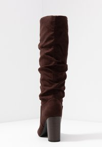 Dorothy Perkins Wide Fit - WIDE FIT KISS 70S LONG BOOT - High heeled boots - choc - 5