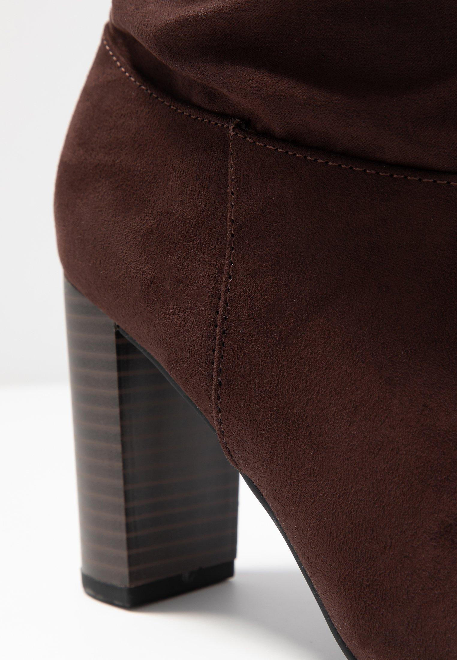 botte brown chocolate haut talon cuir