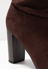 Dorothy Perkins Wide Fit - WIDE FIT KISS 70S LONG BOOT - High heeled boots - choc - 2