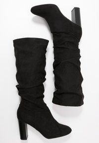 Dorothy Perkins Wide Fit - WIDE FIT KISS 70S LONG BOOT - High heeled boots - black - 3