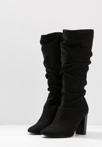 Dorothy Perkins Wide Fit - WIDE FIT KISS 70S LONG BOOT - High heeled boots - black - 4