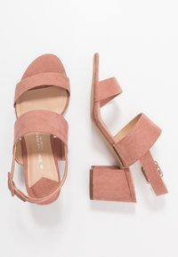 Dorothy Perkins Wide Fit - WIDE FIT SADE DOUBLE STRAP MULE - Sandalias - blush - 3