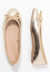 Dorothy Perkins Wide Fit - WIDE FIT PEACH  - Ballet pumps - gold - 3