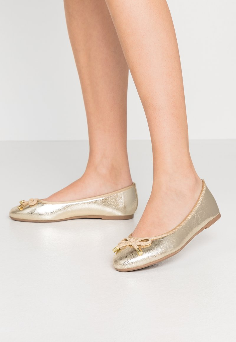 Dorothy Perkins Wide Fit - WIDE FIT PEACH  - Ballet pumps - gold