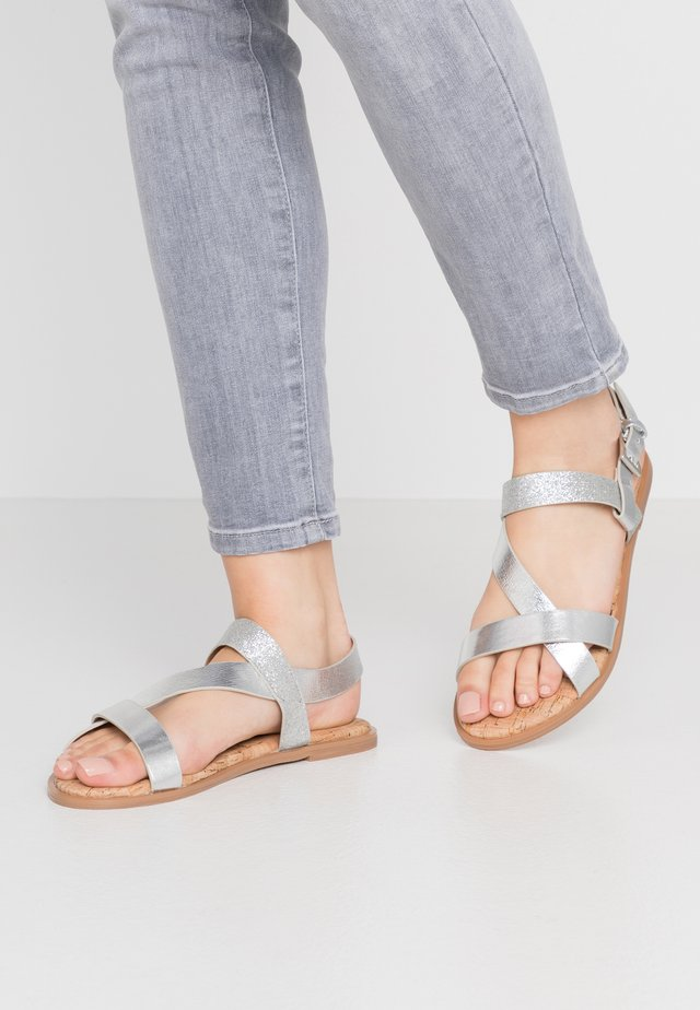WIDE FIT FINO COMFORT ASYMETRIC - Sandals - silver
