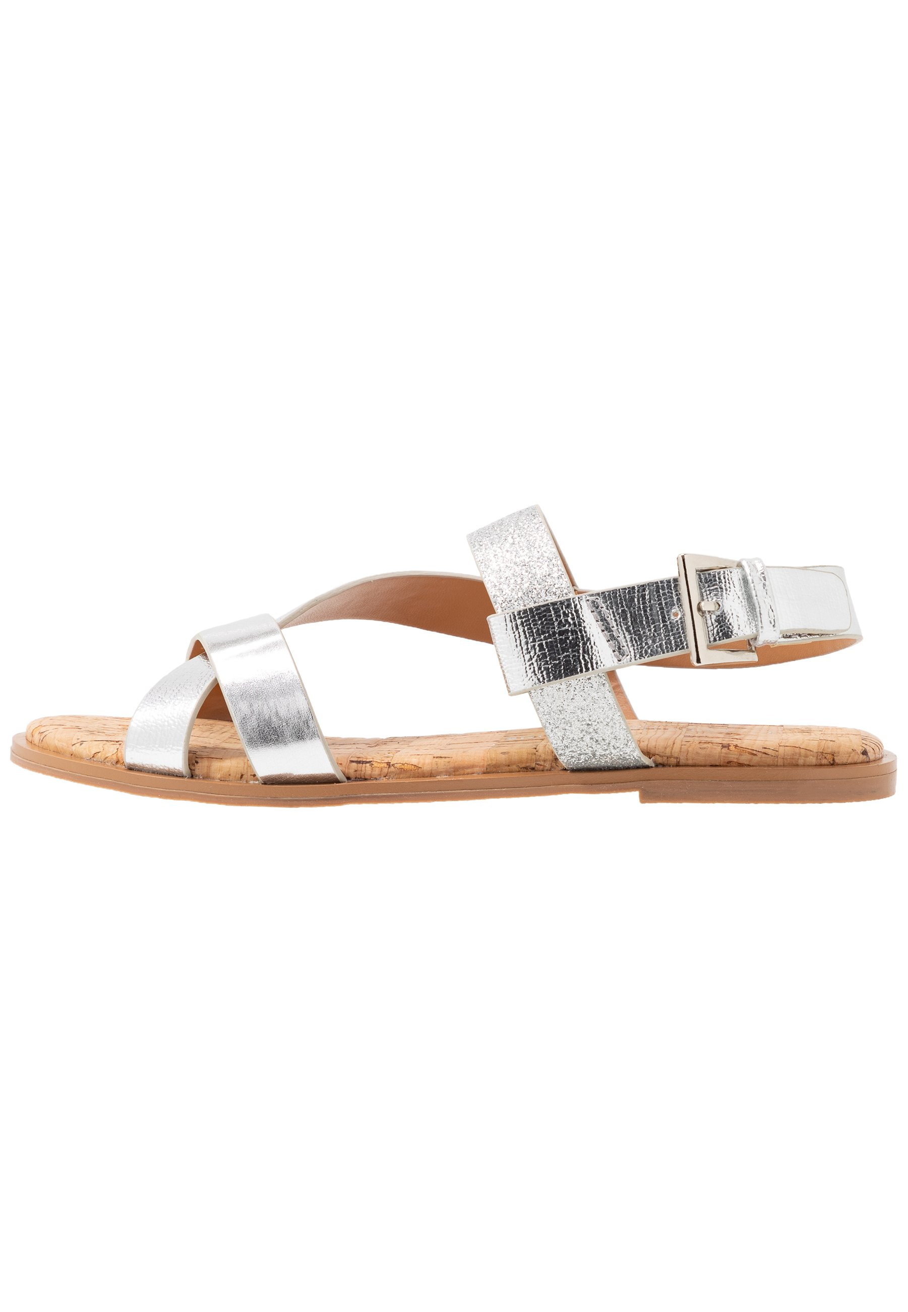 Dorothy Perkins Wide Fit WIDE FIT FINO COMFORT ASYMETRIC - Sandaler - silver