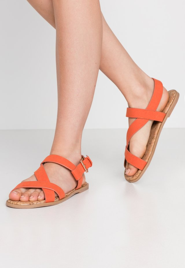 WIDE FIT FINO COMFORT ASYMETRIC - Sandals - orange