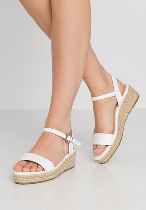 WIDE FIT RHIANNA 2 PART - Espadrilles - white