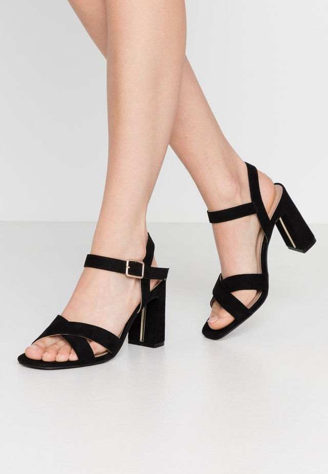WIDE FIT SELENA BLOCK  - High heeled sandals - black