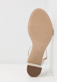 Dorothy Perkins Wide Fit - WIDE FIT SHIMMER BLOCK - Sandaler med høye hæler - white - 6