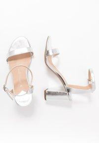 Dorothy Perkins Wide Fit - WIDE FIT SHIMMER BLOCK - High heeled sandals - silver - 1
