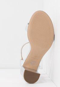 Dorothy Perkins Wide Fit - WIDE FIT SHIMMER BLOCK - High heeled sandals - silver - 4