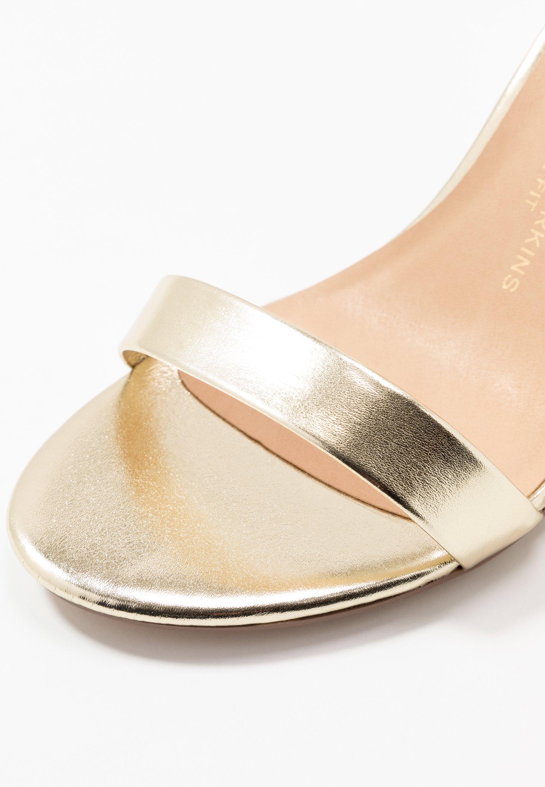 Dorothy Perkins Wide Fit WIDE FIT SHIMMER BLOCK - Sandales à talons hauts - gold