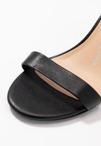 Dorothy Perkins Wide Fit - WIDE FIT SHIMMER BLOCK - High heeled sandals - black - 2