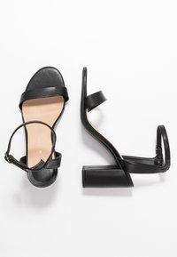 Dorothy Perkins Wide Fit - WIDE FIT SHIMMER BLOCK - High heeled sandals - black - 3