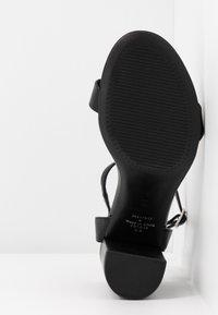 Dorothy Perkins Wide Fit - WIDE FIT SHIMMER BLOCK - High heeled sandals - black - 6