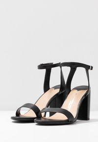 Dorothy Perkins Wide Fit - WIDE FIT SHIMMER BLOCK - High heeled sandals - black - 4