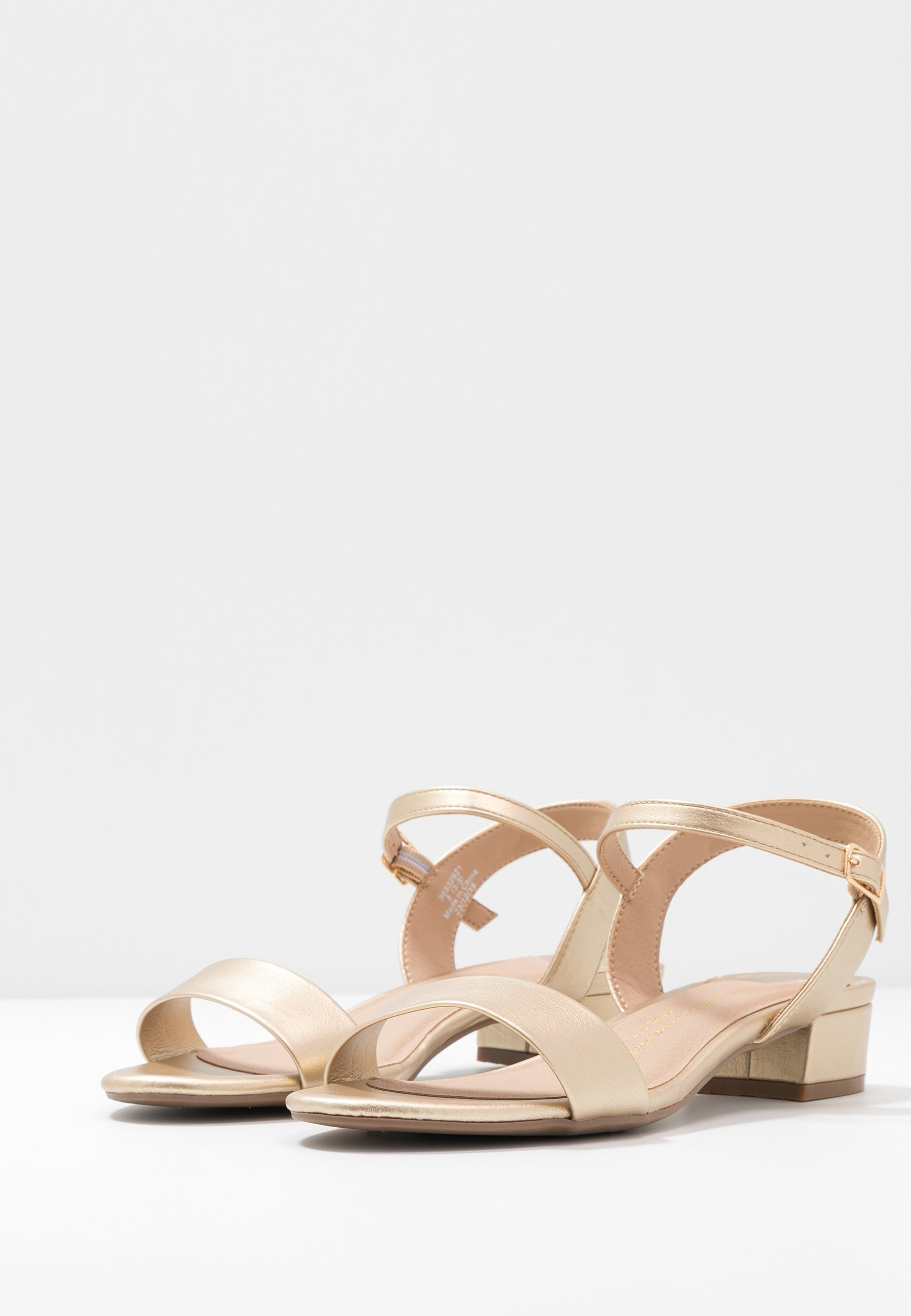 Dorothy Perkins Wide Fit WIDE FIT SPRIGHTLY LOW BLOCK HEEL  - Sandales - gold