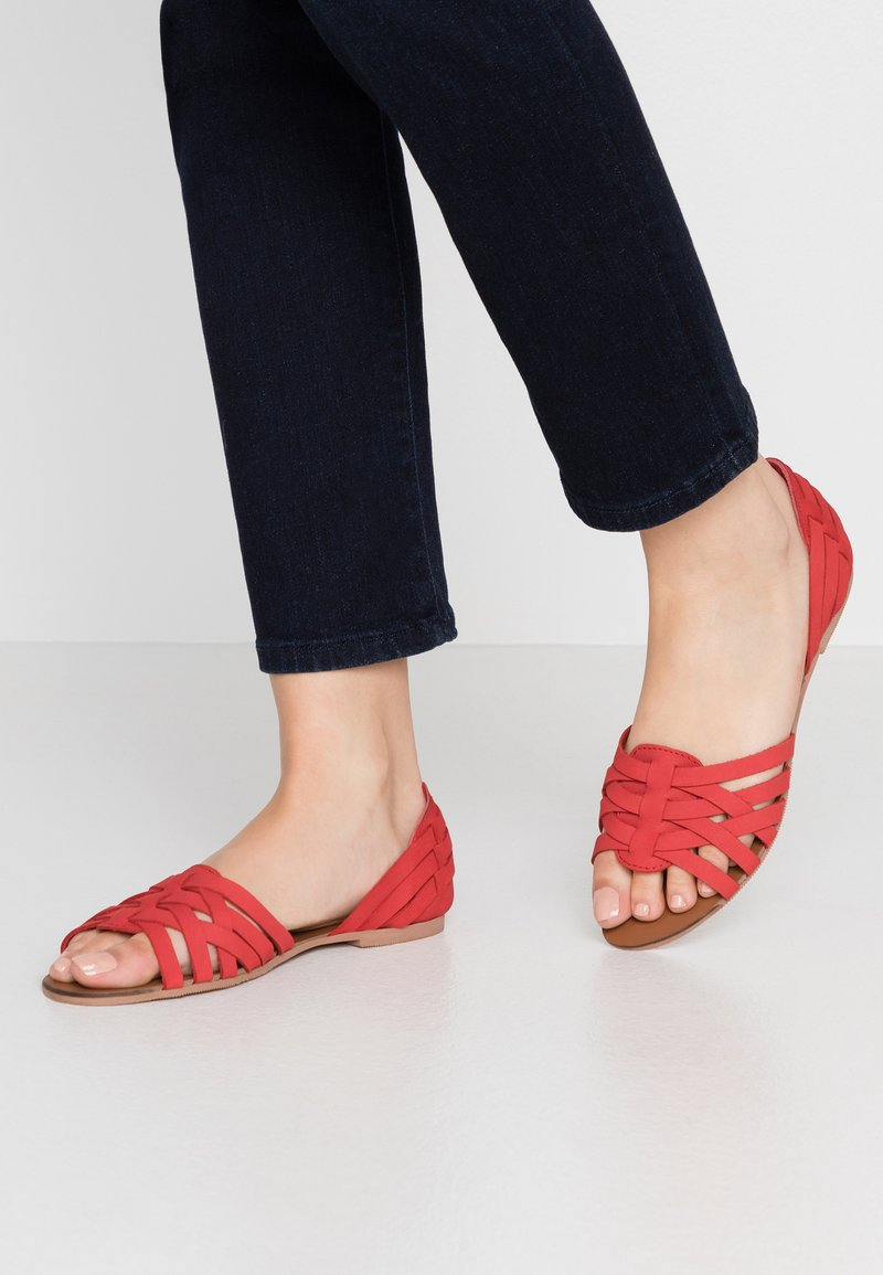 Dorothy Perkins Wide Fit - WIDE FIT JINX - Sandaler - red