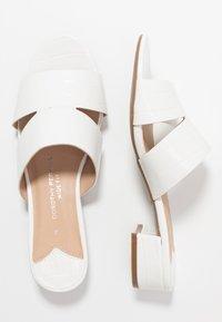Dorothy Perkins Wide Fit - WIDE FIT SHOOP LOW BLOCK MULE - Mules - white - 3