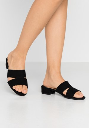 WIDE FIT SHOOP LOW BLOCK MULE - Mules - black