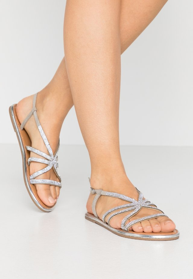 WIDE FIT FIGARO EMBELLISHED  - Sandals - silver