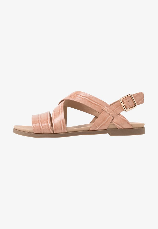 WIDE FIT FRANC CROSS OVER COMFORT - Sandales - pink