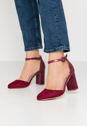 WIDE FIT DEENA TWO PART COURT - High heels - burgundy
