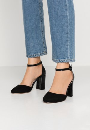 WIDE FIT DEENA TWO PART COURT - High heels - black