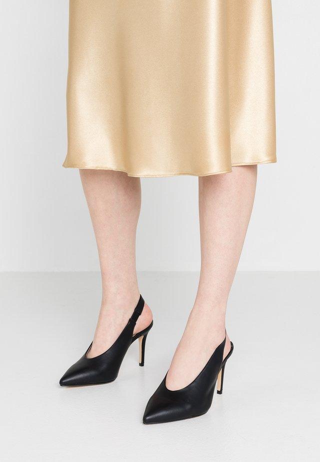 WIDE FIT DAISY - High heels - black