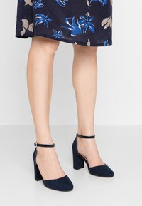 Dorothy Perkins Wide Fit - WIDE FIT DERBY - High heels - navy - 0
