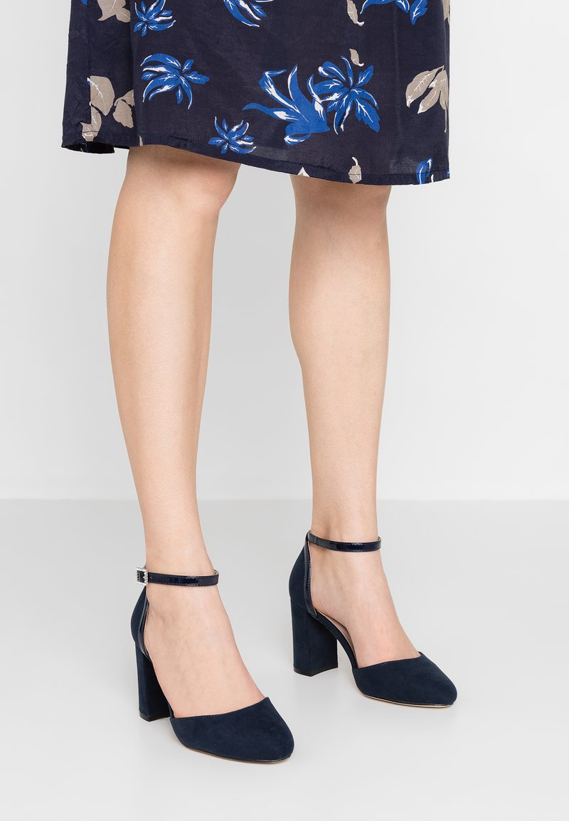 Dorothy Perkins Wide Fit - WIDE FIT DERBY - High heels - navy