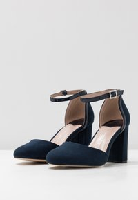 Dorothy Perkins Wide Fit - WIDE FIT DERBY - High heels - navy - 4
