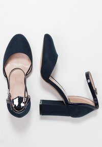 Dorothy Perkins Wide Fit - WIDE FIT DERBY - High heels - navy - 3