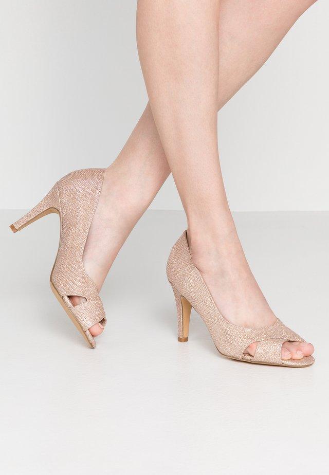 WIDE FIT CLOVERS - Peeptoe heels - blush