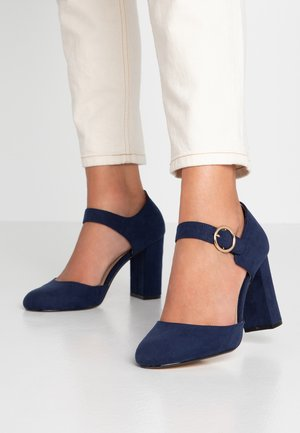 WIDE FIT DANTE MARY JANE COURT - Zapatos altos - navy
