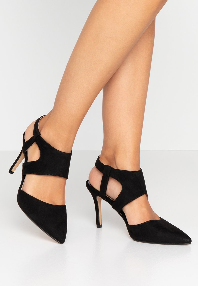 Dorothy Perkins Wide Fit - WIDE FIT ELEVEN TWO PART OPEN COURT - High Heel Pumps - black