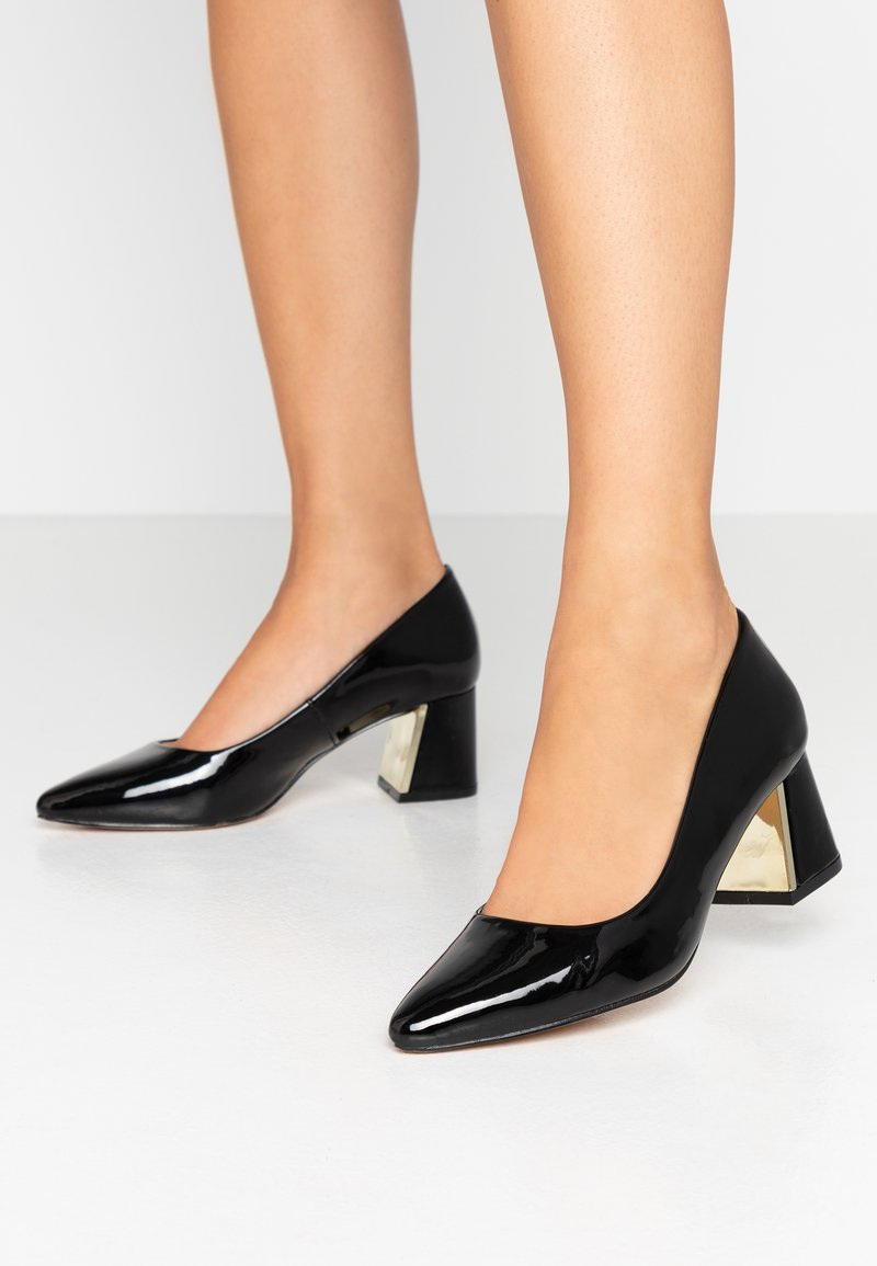 Dorothy Perkins Wide Fit - WIDE FIT DAYDREAM FLARED HEEL COURT - Pumps - black