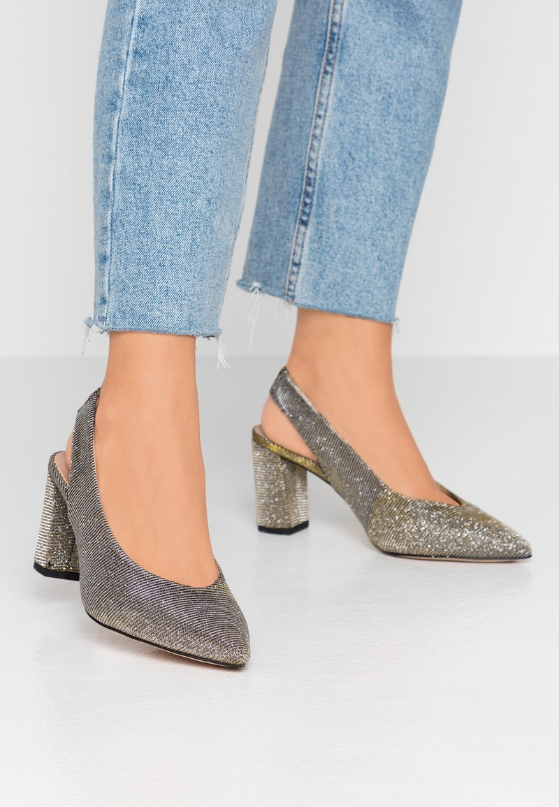 Dorothy Perkins Wide Fit - WIDE FIT EVERLEY COURT - Escarpins - pewter
